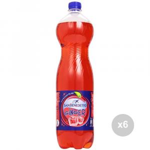 Set 6 SAN BENEDETTO Ginger lt 1. 5 bottiglia bevanda analcolica per feste