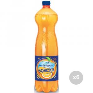 Set 6 SAN BENEDETTO Aranciata lt 1. 5 bottiglia bevanda analcolica per feste