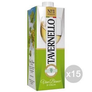 Set 15 TAVERNELLO Vino Brik Lt 1 Bianco Bevanda Alcolica Da Tavola