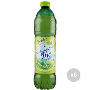 Set 6 SAN BENEDETTO The in bottiglia verde lt 1. 5 bevanda analcolica per feste