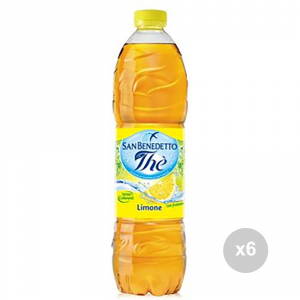 Set 6 SAN BENEDETTO The in bottiglia limone lt 1. 5 bevanda analcolica per feste