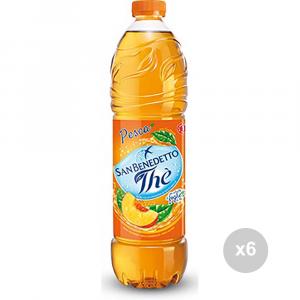 Set 6 SAN BENEDETTO The in bottiglia pesca lt 1. 5 bevanda analcolica per feste