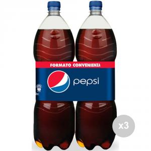Set 3 PEPSI Bottiglia lt 1. 5 bipack x 2 bevanda analcolica per feste