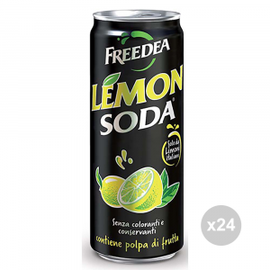Set 24 LEMON SODA Lemonsoda lattina 33cl bevanda analcolica per feste