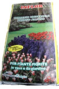 INFLOR Terriccio substrato lt 45 kg 15 eco orto e giardinaggio