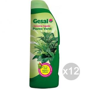 Set 12 GESAL Piante Verdi Lt 1 Concime Nutrimento Giardino E Cura Delle Piante