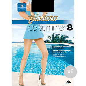 Set 6 FILODORO Summer 8 taglia 4l nero calze da donna