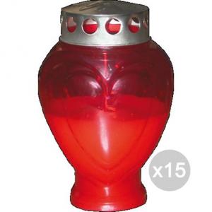 Set 15 CUORE Lumini U Ceri Piccolo Rosso 1305 Profumazione E Decorazione Della Casa