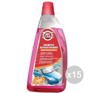 Set 15 Auto Shampoo Lt 1 Lava E Lucida Vete Pulizia Dell'Auto