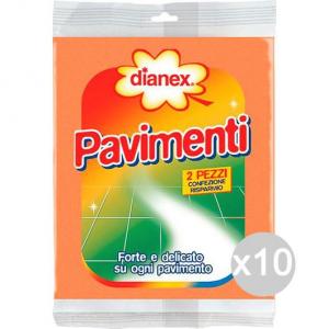 Set 10 DIANEX Pavimenti X 2 Forte E Delicato Attrezzo Pulizia Della Casa