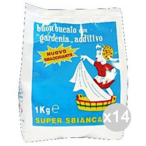 Set 14 GARDENIA Sbiancante Sacco Kg 1 Perborato Detersivo Lavatrice E Bucato