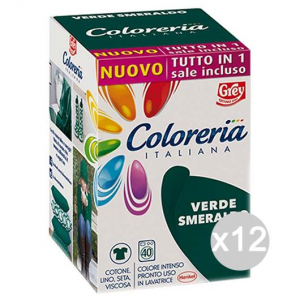Set 12 COLORERIA ITALIANA Verde Sme +Sale Tutto In1New Detersivo Lavatrice E Bucato