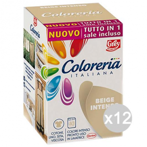 Set 12 COLORERIA ITALIANA Beige Int +Sale Tutto In1New Detersivo Lavatrice E Bucato