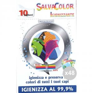 Set 48 ARCOBALENO Salvacolore 10 fogli igienizzati acchiappacolore prodotto per il bucato