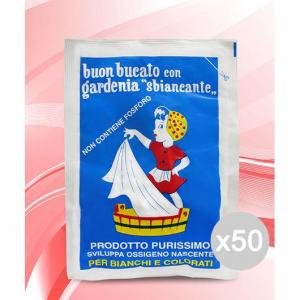 Set 50 GARDENIA Sbiancante Busta Gr 100 Perborato Detersivo Lavatrice E Bucato