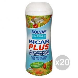 Set 20 SOLVAY Bicarbonato 400 Gr. Frutta E Verdura Detergente Per La Casa