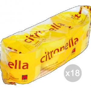 Set 18 CITRONELLA U 125 Tris Lumini 5,3X5H Repellente Insetticida