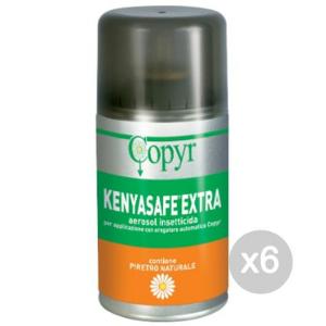 Set 6 COPYR Ricambi Kenyasafe Mosche Zanz 250 Insetticida Repellente