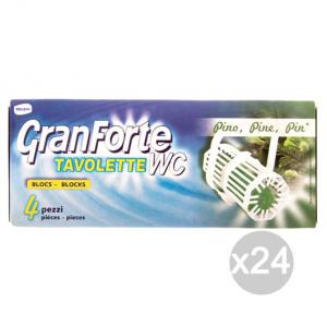 Set 24 GRANFORTE Tavoletta Wc X4 Pino Detersivi E Pulizia Della Casa