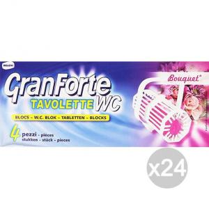 Set 24 GRANFORTE Tavoletta Wc X4 Bouquet Detersivi E Pulizia Della Casa