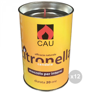 Set 12 CERERIA ARTIGIANA UMBRIA Citronella u 127 alluminio bicchiere 6,5x10h