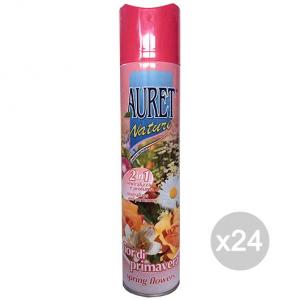 Set 24 AURET Deodorante Spray Fiori / Agrumi Tropica 300Ml Profumazione Della Casa