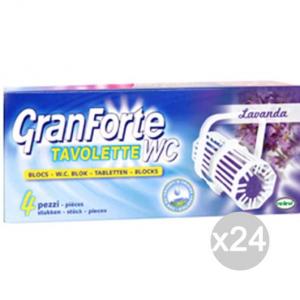 Set 24 GRANFORTE Tavoletta Wc X4 Lavanda Detersivi E Pulizia Della Casa