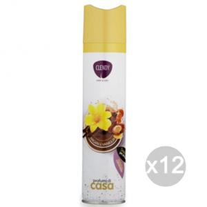 Set 12 CLENDY Deodorante Spray Ambiente Arg&Van 300Ml 204405 Profumazione Della Casa