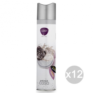 Set 12 CLENDY Deodorante Spray Ambiente Talco 300 204403 Profumazione Della Casa