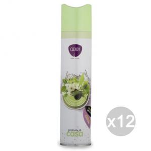 Set 12 CLENDY Deodorante Spray Ambiente Muschio 300Ml 204400 Profumazione Della Casa
