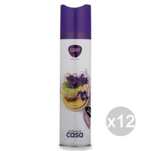 Set 12 CLENDY Deodorante Spray Ambiente Lavanda 300 204401 Profumazione Della Casa