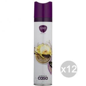 Set 12 CLENDY Deodorante Spray Ambiente Vanigli 300Ml 204402 Profumazione Della Casa