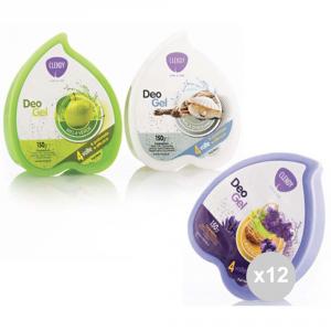 Set 12 CLENDY Assorbi odori gel confezione mista 3profumi 204120 fragranza per ambienti