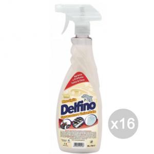 Set 16 DELFINO Sgrassatore 750Ml Spray Marsiglia Detersivi E Pulizia Della Casa