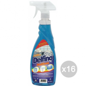 Set 16 DELFINO Multiuso 750Ml Spray Detersivi E Pulizia Della Casa