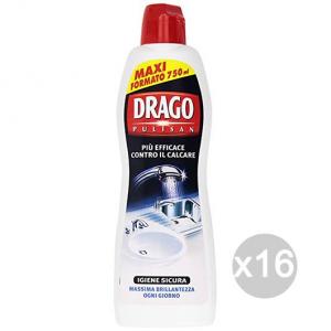 Set 16 DRAGO Pulisan Anticalcare 750 Detersivi E Pulizia Della Casa