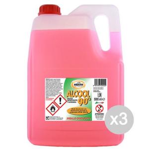 Set 3 AMA Alcool 5000 Ml 90 Gradi Denaturato Detersivi E Pulizia Della Casa