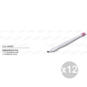 Set 12 IPAM Aa0829 Taglia Pellicine Inox Manicure E Pedicure