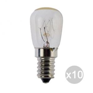 Set 10 AIRAM Lampada Frigo Pera Chiara 15W E14 X2 240V Illuminazione Della Casa