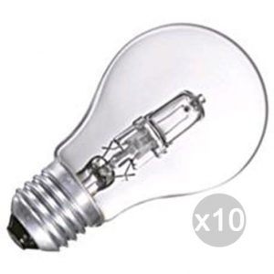 Set 10 AIRAM Lampada Alogena Goccia Chiara 28W E27 230V Illuminazione Della Casa