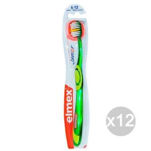 Set 12 ELMEX Spazzolino Da Denti Bambini 6-12 Junior Igiene E Cura Dei Denti
