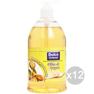 Set 12 DOLCE SAPONE Liquido Lt 1 Completo Argan Cura E Pulizia Del Corpo
