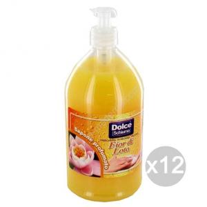 Set 12 DOLCE SAPONE Liquido Lt 1 Completo Vaniglia Cura E Pulizia Del Corpo