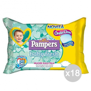 Set 18 PAMPERS Salviet. Baby X 50 Fresh No Coperchio Igiene E Cura Del Bambino
