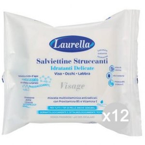 Set 12 FRILLY Laurella Salviette Struccanti X 20 Make-Up E Cosmetica