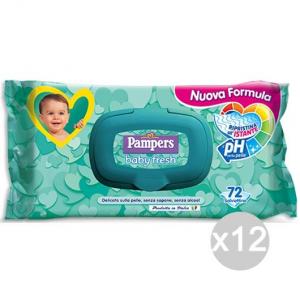 Set 12 PAMPERS Salviet. Baby X 70 Fresh Busta+Apri Igiene E Cura Del Bambino