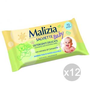 Set 12 MALIZIA Salviet. Baby X72 Camomilla Busta Igiene E Cura Del Bambino