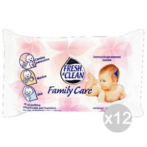 Set 12 FRESH & CLEAN Fresh-Clean Salviette Baby X18 Family Care Igiene E Cura Del Bambino