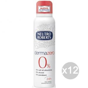 Set 12 DERMAZERO Roberts Deodorante Spray Ml 125/150 Cura E Igiene Del Corpo