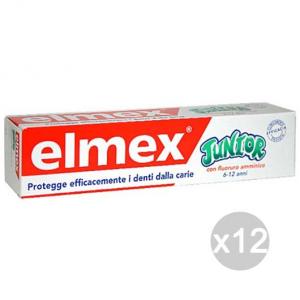Set 12 ELMEX Dentifricio Junior Bambini 6/12 Anni 75 Ml Igiene E Cura Dei Denti